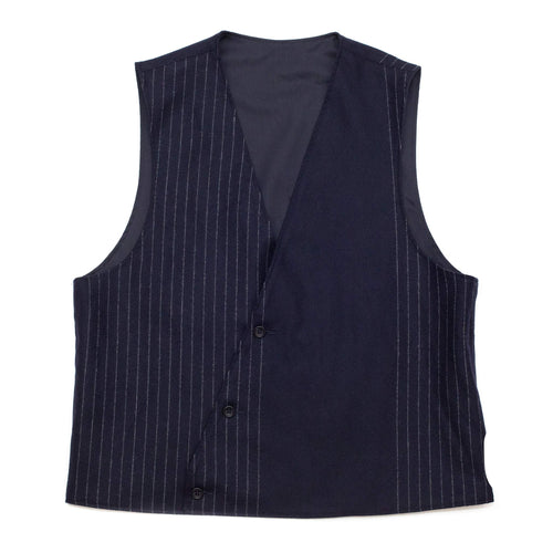 Engineered Garments Reversible Vest Dark Navy Worsted Wool Gabardine