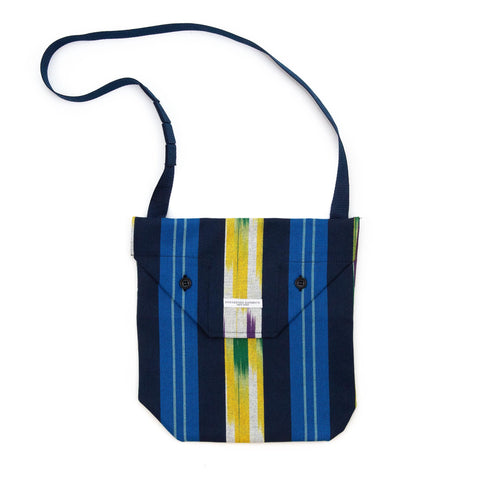 Engineered Garments Shoulder Pouch Blue Green Yellow Cotton Ikat