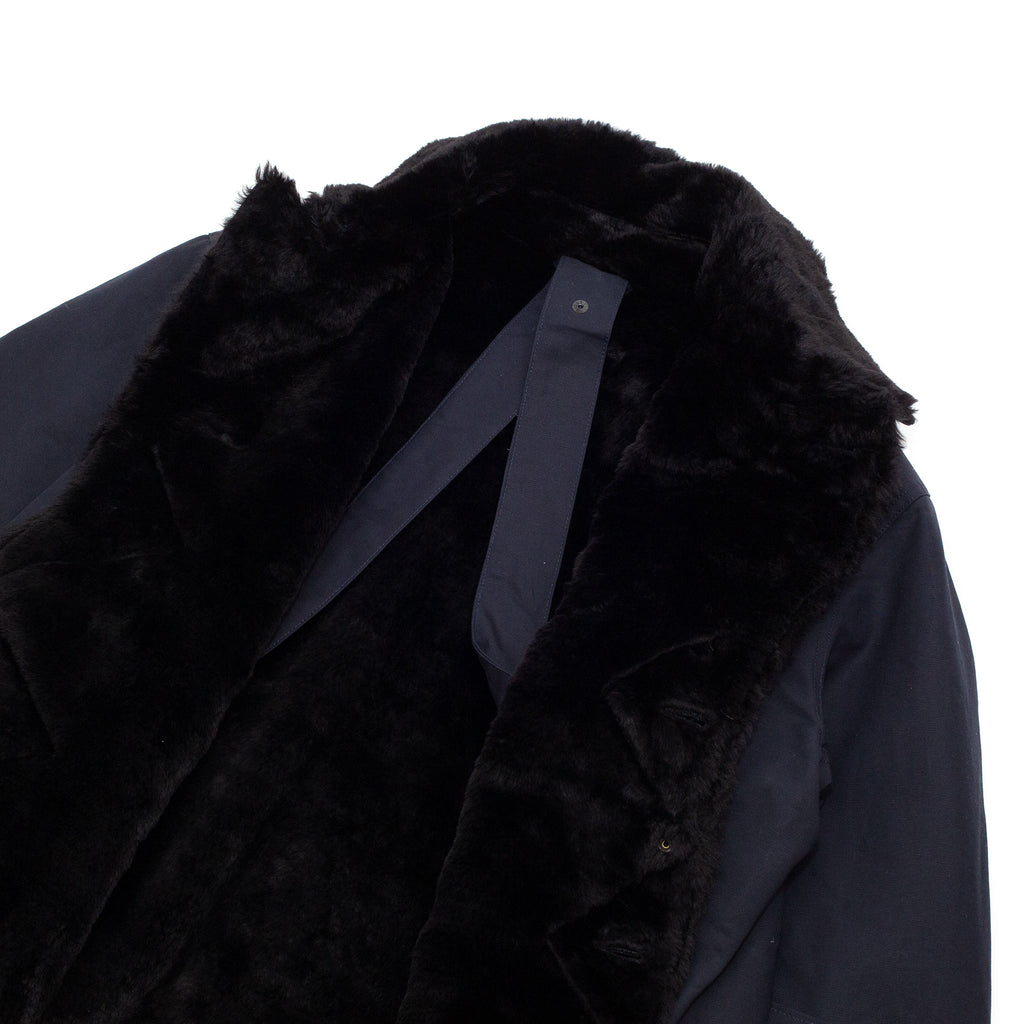 Engineered Garments Storm Coat Navy Cotton Double Cloth