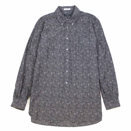 Engineered Garments 19th Century BD Shirt Grey Cotton Floral Jacquard