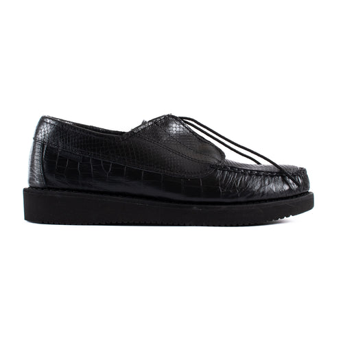 Engineered Garments x Sebago Coverdeck Exotic Black