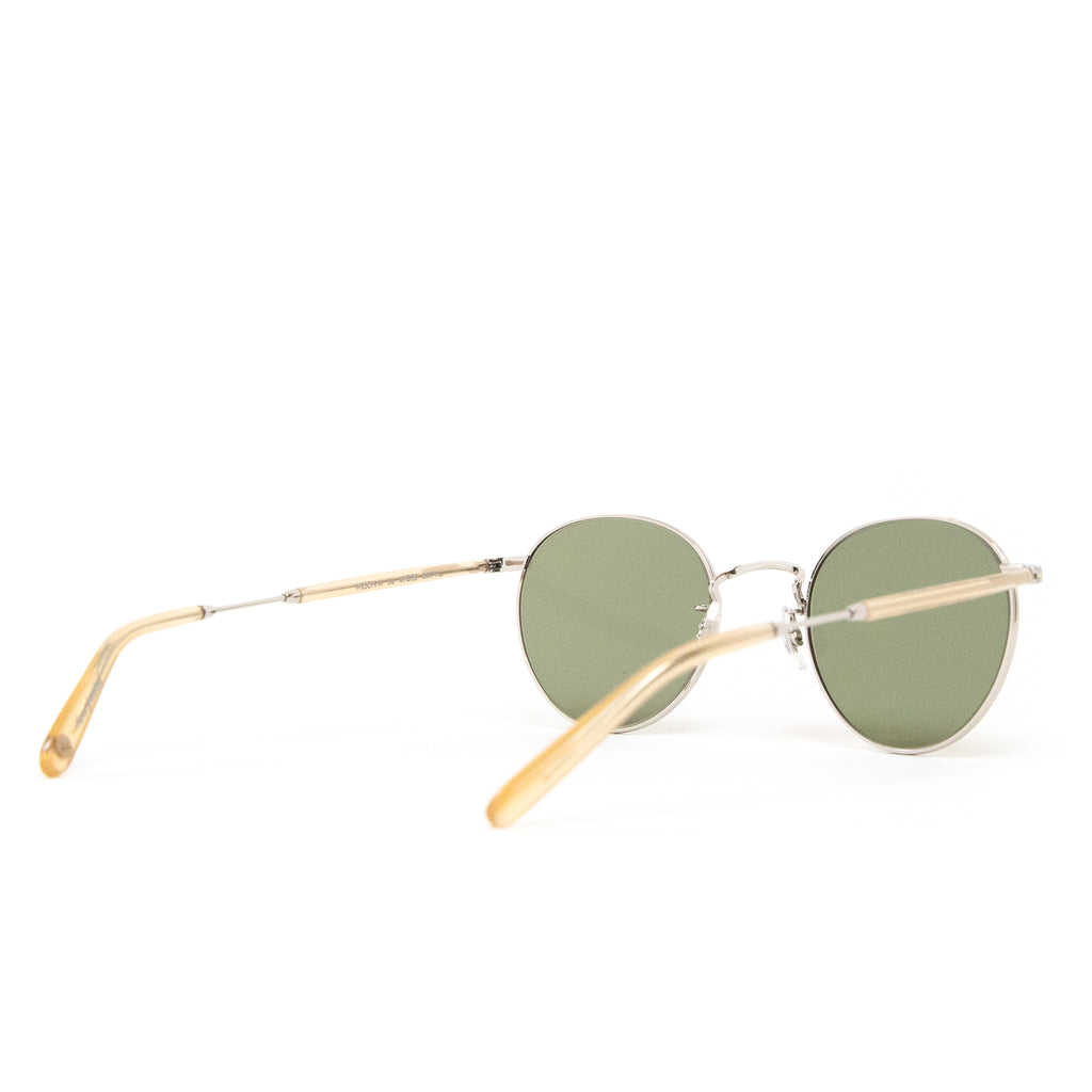 Garrett Leight Hampton Champagne/Pure Green