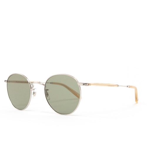Garrett Leight Wilson Silver-Blonde/Semi-Flat Green