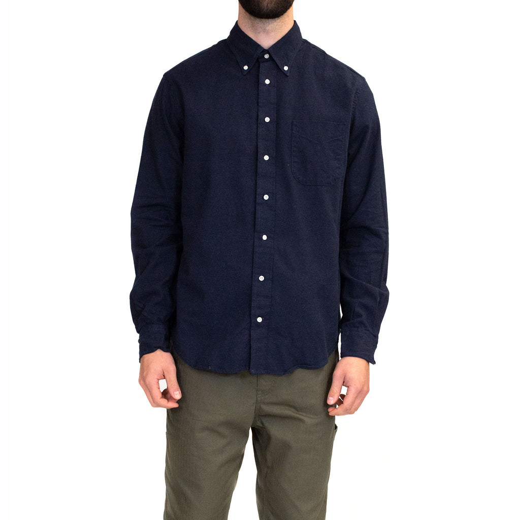 Gitman Vintage Bros. Flannel Shirt Navy