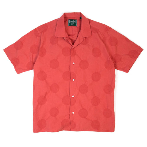 Gitman Vintage Bros. Large Dobby Dot Camp Shirt Coral