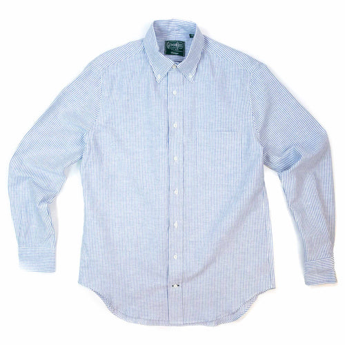 Gitman Vintage Bros. Linen Shirt Blue Stripe