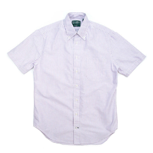 Gitman Vintage Bros. Short Sleeve Purple Stripe Oxford