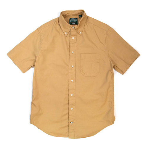 Gitman Vintage Bros. Short Sleeve Tan Overdye Oxford