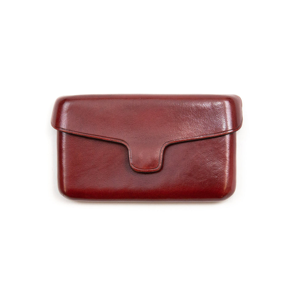 Il Bussetto Card Holder with Magnetic Closure Bordeaux