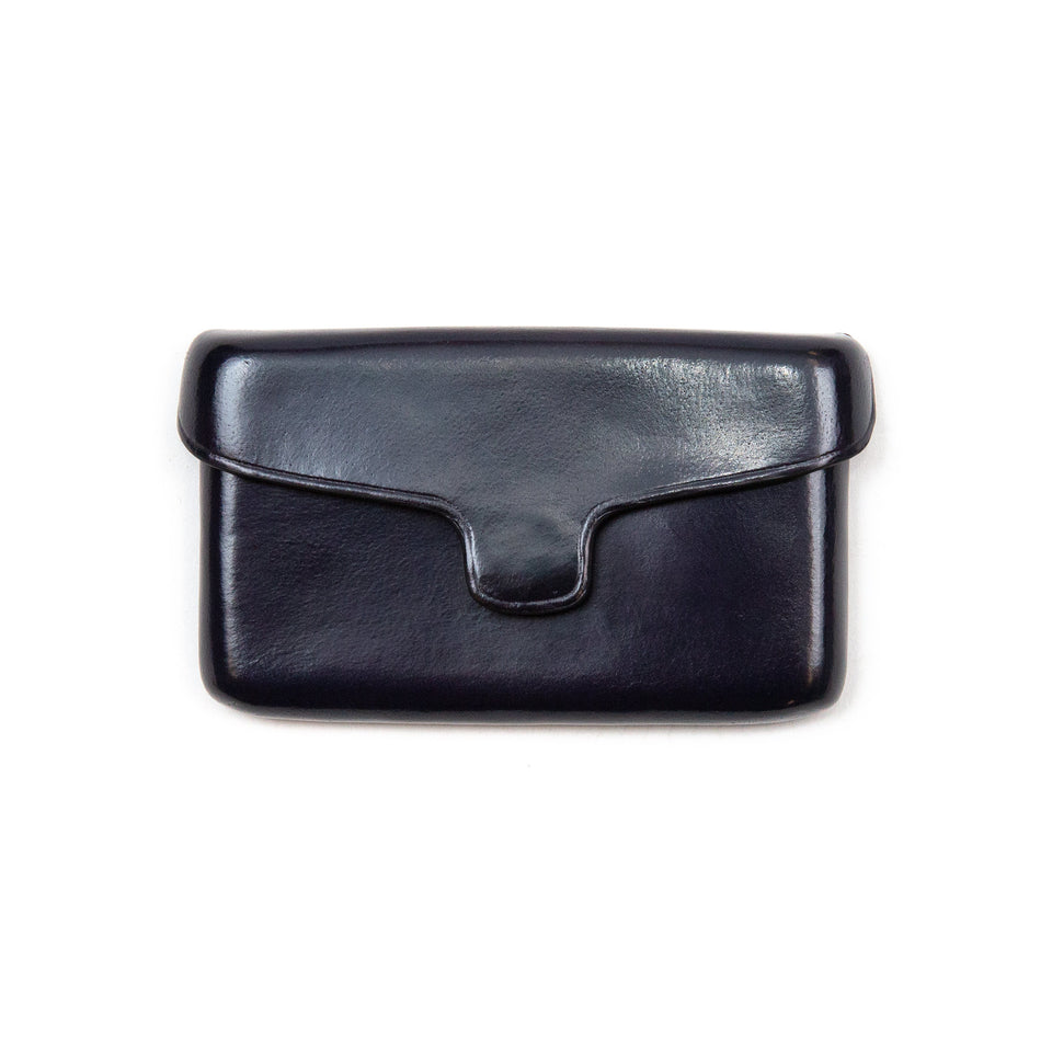Il Bussetto Card Holder with Magnetic Closure Navy Blue