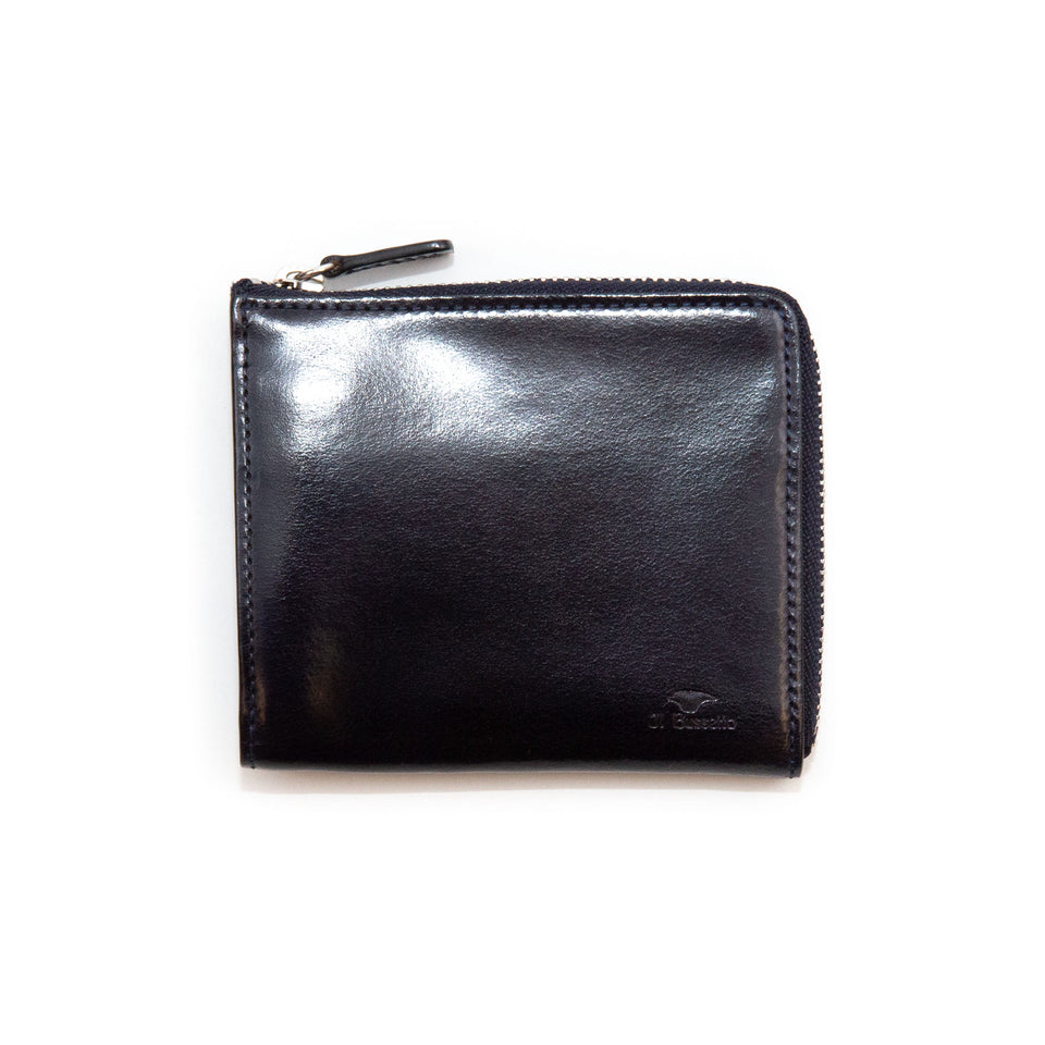 Il Bussetto Folding Zip Wallet Navy Blue