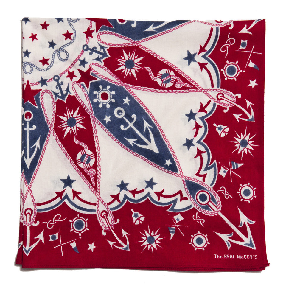 The Real McCoy's Joe McCoy MA16015 Bandana Voyage Red at shoplostfound in Toronto, folded