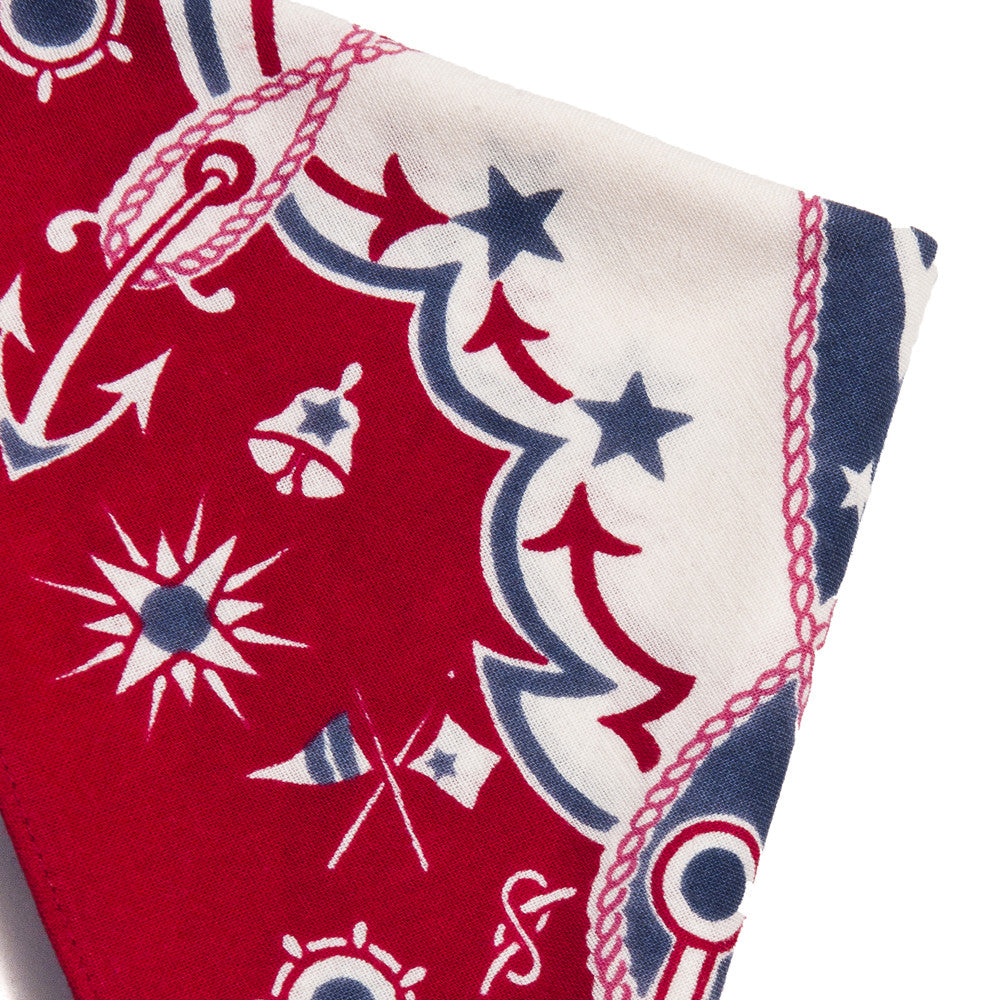 The Real McCoy's Joe McCoy MA16015 Bandana Voyage Red at shoplostfound in Toronto, corner