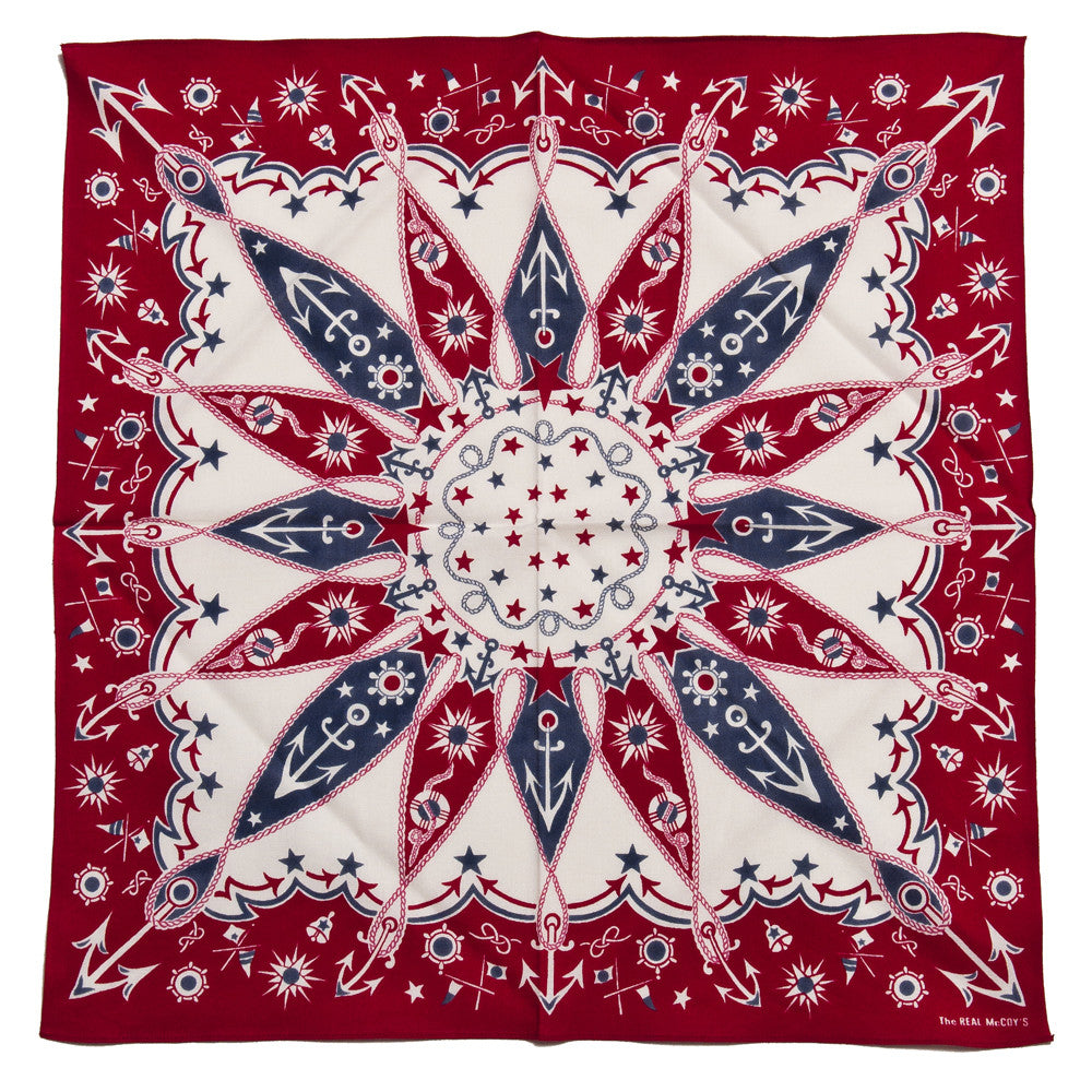 The Real McCoy's Joe McCoy MA16015 Bandana Voyage Red at shoplostfound in Toronto, open