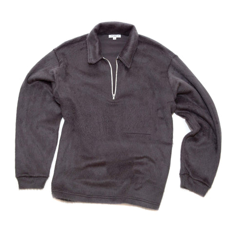 Lady White Co. Furry 1/4 Zip Steel Grey