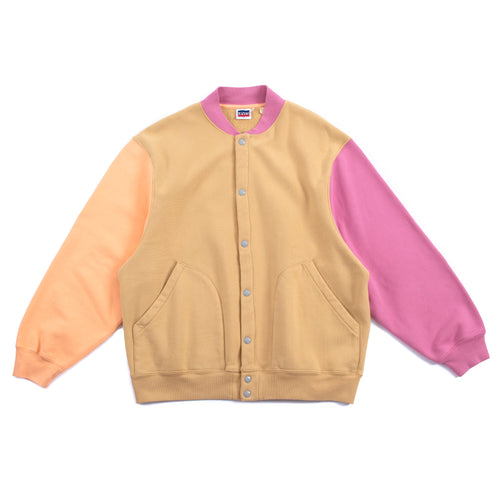 Levi's Vintage Clothing Fleece Cardigan Lemon Orange Pink Tan