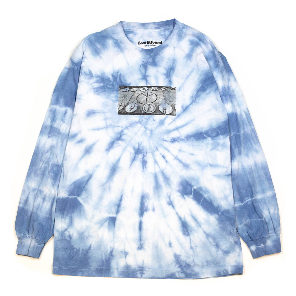 Liam Goslett Hippie Dining Table Tie Dye Tee Blue