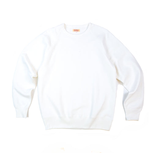 The Real McCoy's MC21018 9oz. Loopwheel Raglan Sleeve Sweatshirt Milk