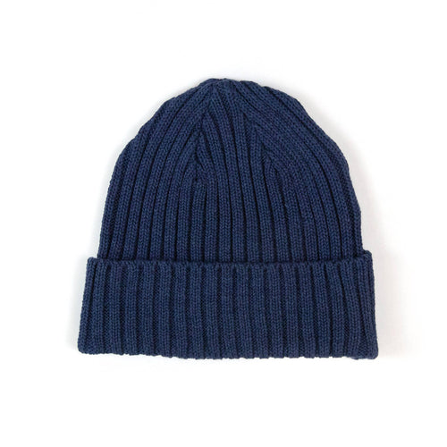 The Real McCoy's MA21014 Cotton Bronson Knit Cap Navy