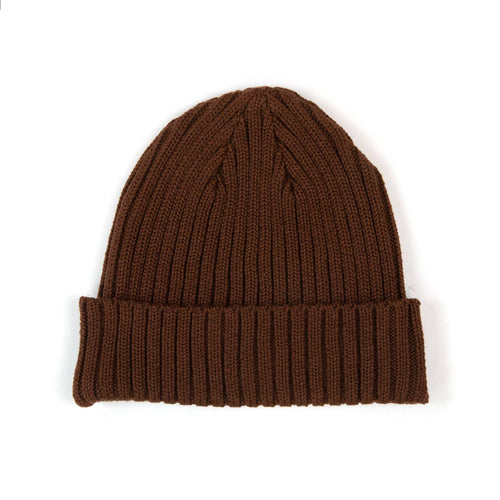 The Real McCoy's MA21014 Cotton Bronson Knit Cap Brown