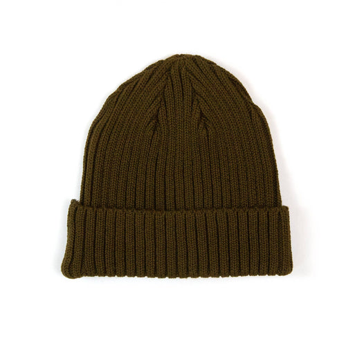 The Real McCoy's MA21014 Cotton Bronson Knit Cap Olive