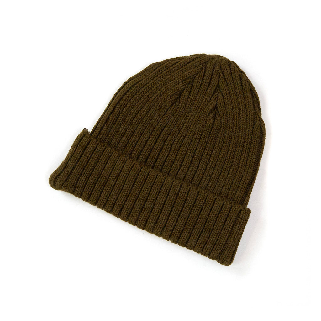The Real McCoy's MA21014 Cotton Bronson Knit Cap Olive Side