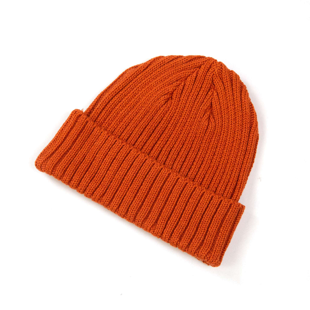 The Real McCoy's MA21014 Cotton Bronson Knit Cap Orange Side