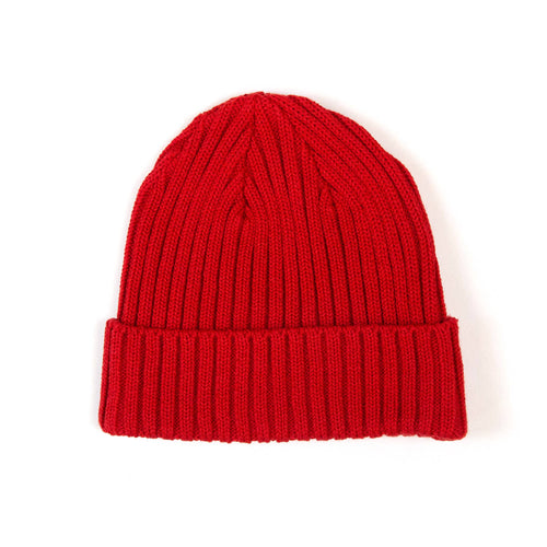 The Real McCoy's MA21014 Cotton Bronson Knit Cap Red