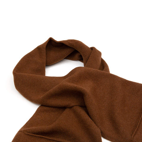 MHL Pocket Scarf Lambswool Conker