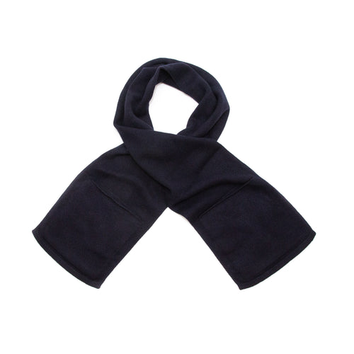MHL Pocket Scarf Lambswool Dark Navy