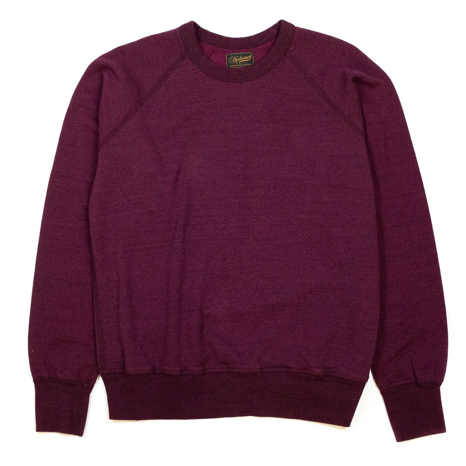 National Athletic Goods Raglan Warm Up Wine
