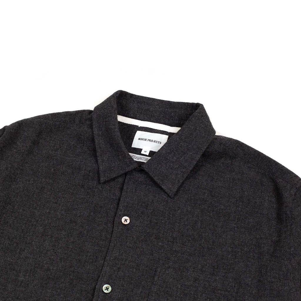 Norse Projects Carsten Light Wool Shirt Charcoal Melange