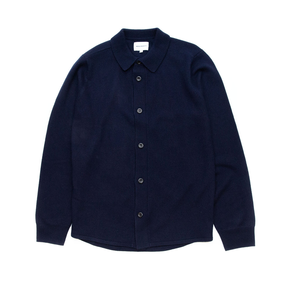 Norse Projects Martin Boiled Wool Navy