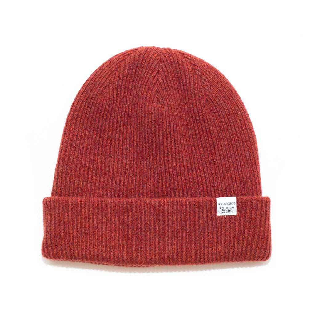 Norse Projects Norse Beanie Carmine Red