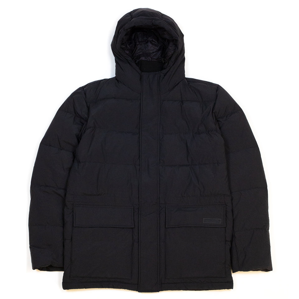 Norse-Projects-Willum-Down-Parka-Black-Front-Flat
