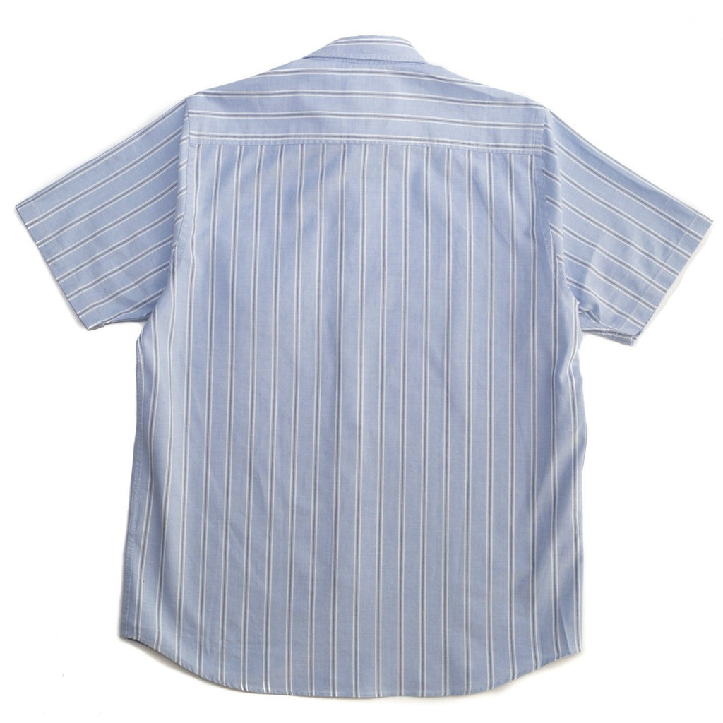 Norse Projects Theo Oxford SS Pale Blue Multi Stripe Back