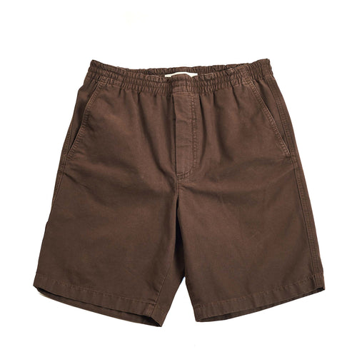 Norse Projects Evald Canvas Work Shorts Heathland Brown