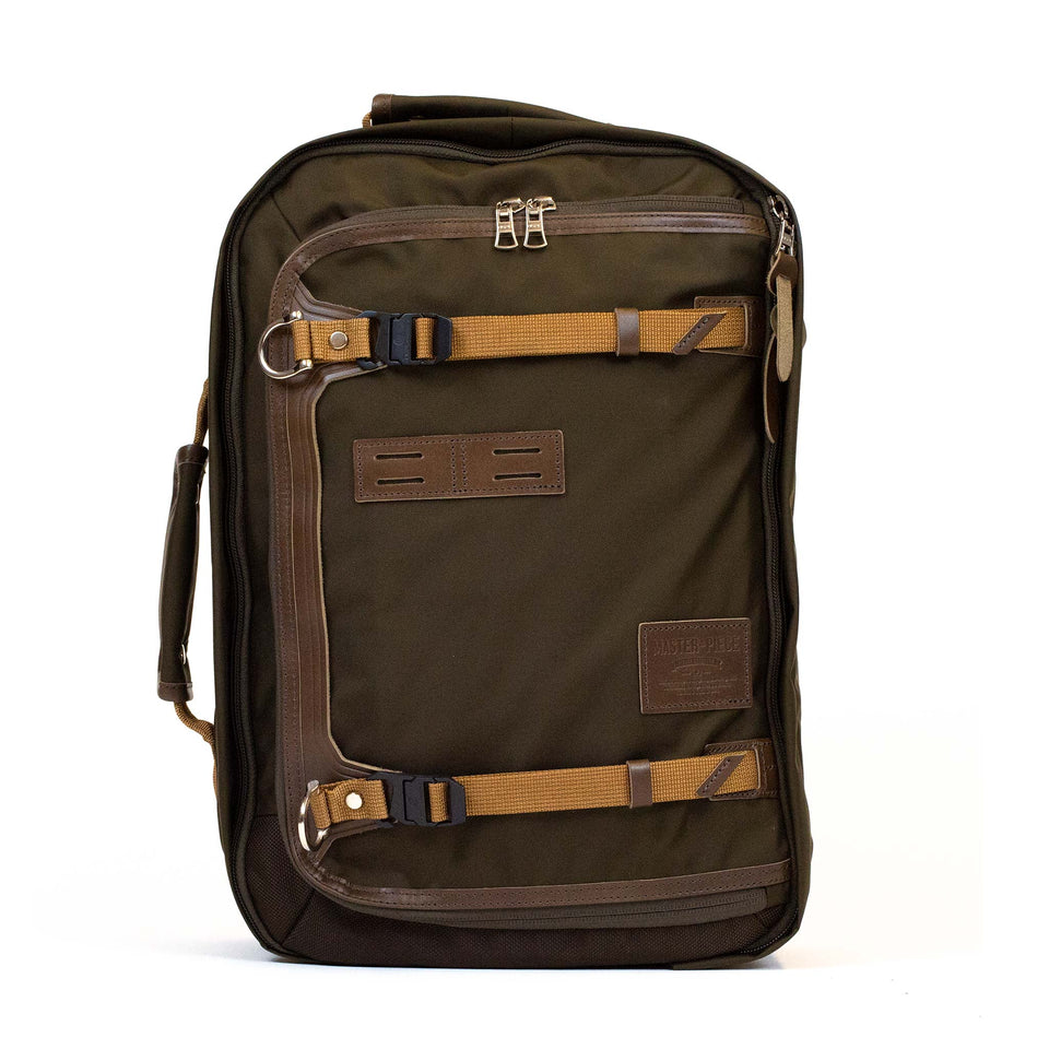 master-piece Potential V2 Backpack Olive briefcase 2
