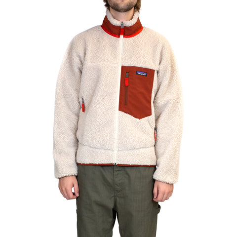 Patagonia Classic Retro-X Jacket Natural/Barn Red