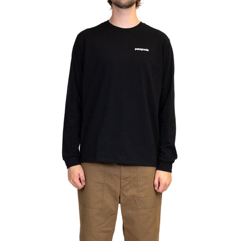 Patagonia Long-Sleeved P-6 Logo Responsibili-Tee Black