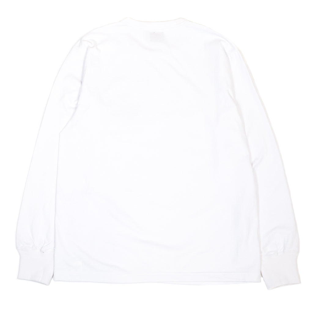 The Real McCoy's MC20002 Logo Tee L/S White back