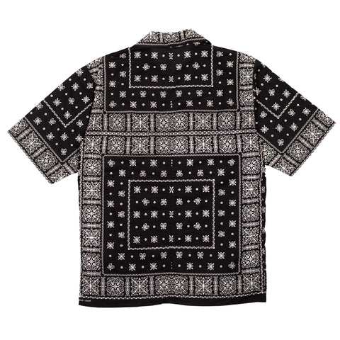 The Real McCoy's MS20014 JM Bandana Shirt S/S Black Front
