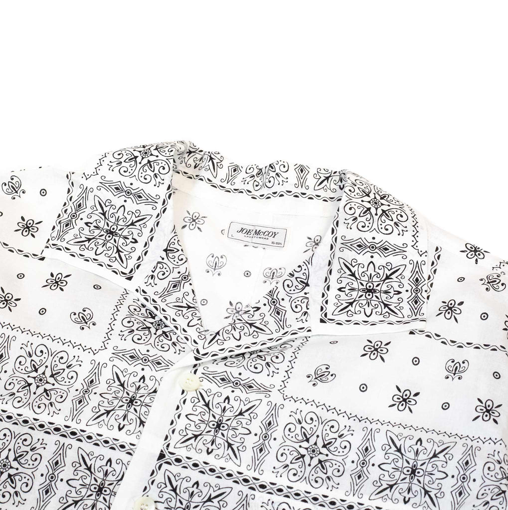 The Real McCoy's MS20014 JM Bandana Shirt S/S White collar