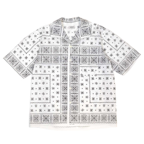 The Real McCoy's MS20014 JM Bandana Shirt S/S White front