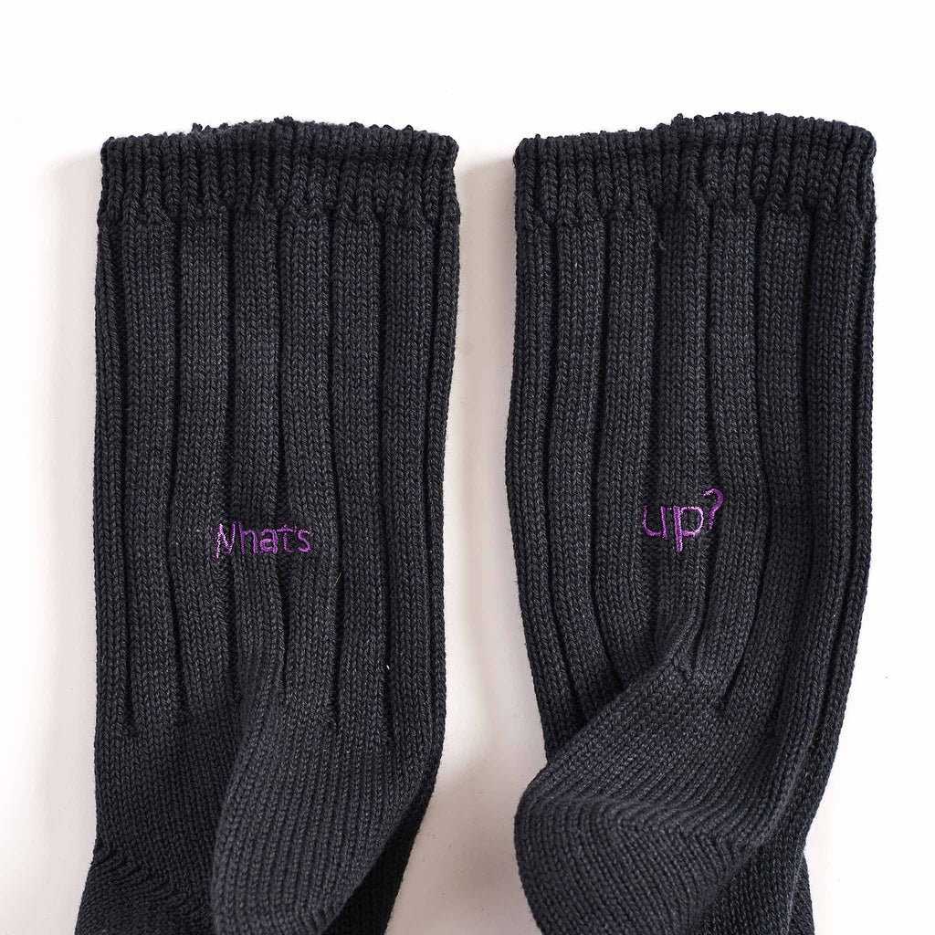Rostersox What's Up Rib Socks Black Detail