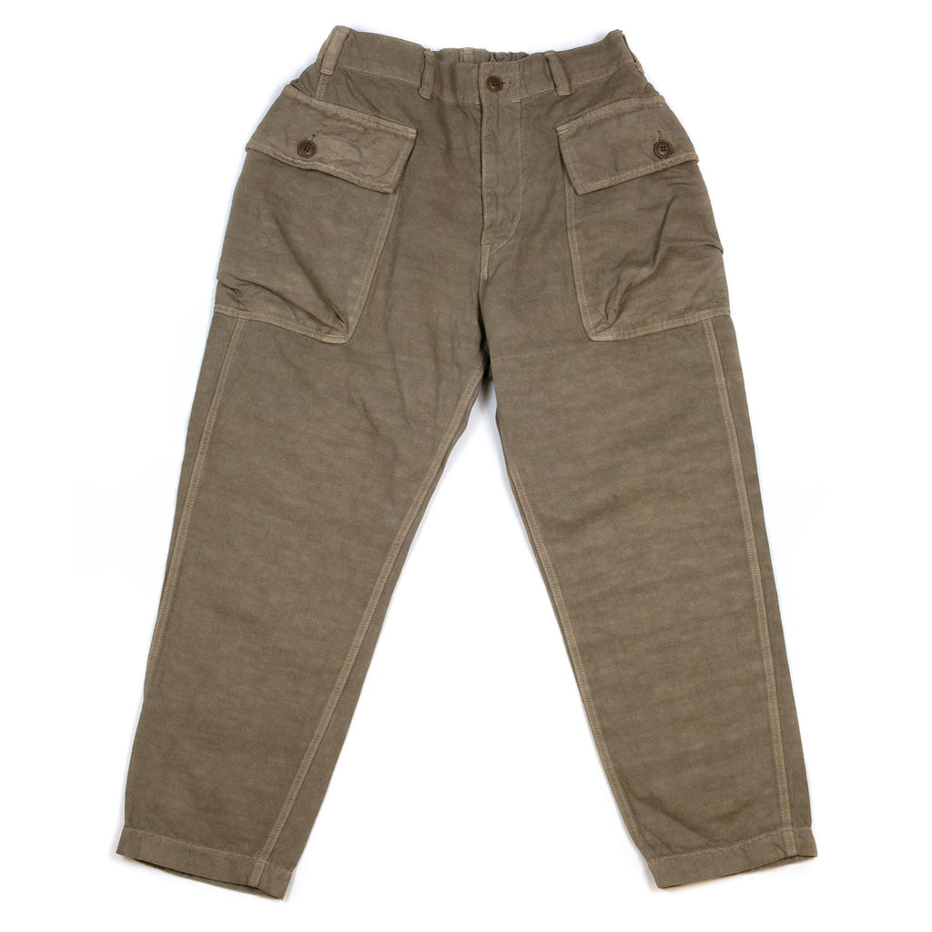 Sage-de-Cret-910-Length-Military-Trousers-Beige-Flat
