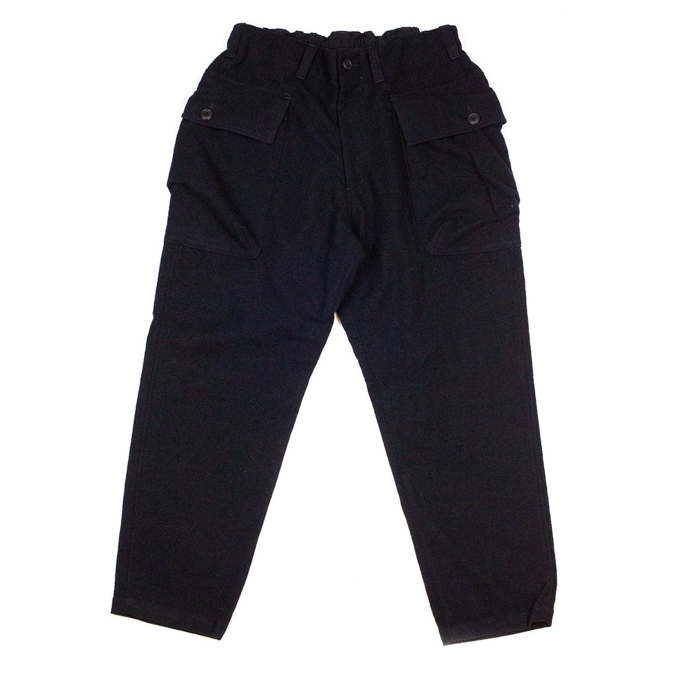 Sage-de-Cret-910-Length-Military-Trousers-Navy-Front-flat