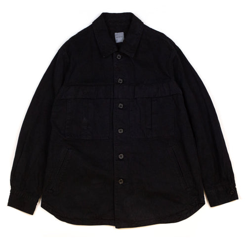 Sage-de-Cret-Shirt-Jacket-Black-Front