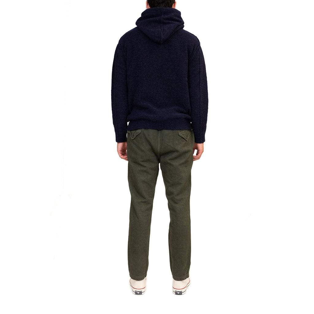 Sage-de-Cret-Tapered-Pants-Khaki-Model-Fit-Back