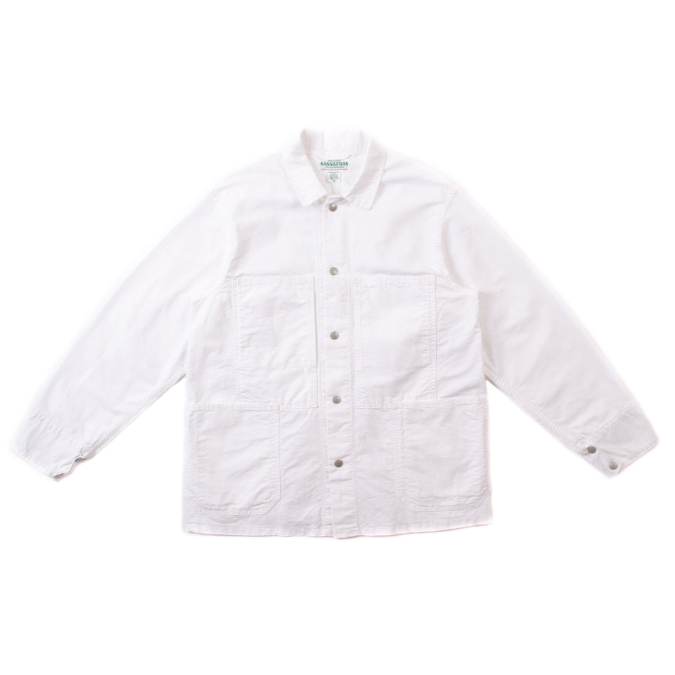 Sassafras Transplant Jacket Oxford White